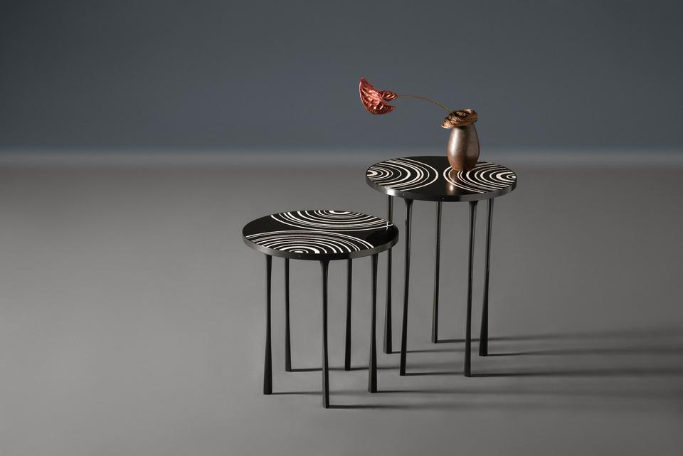 FG004659 , FG004658 , Ammonite Side Table, Tall, Low