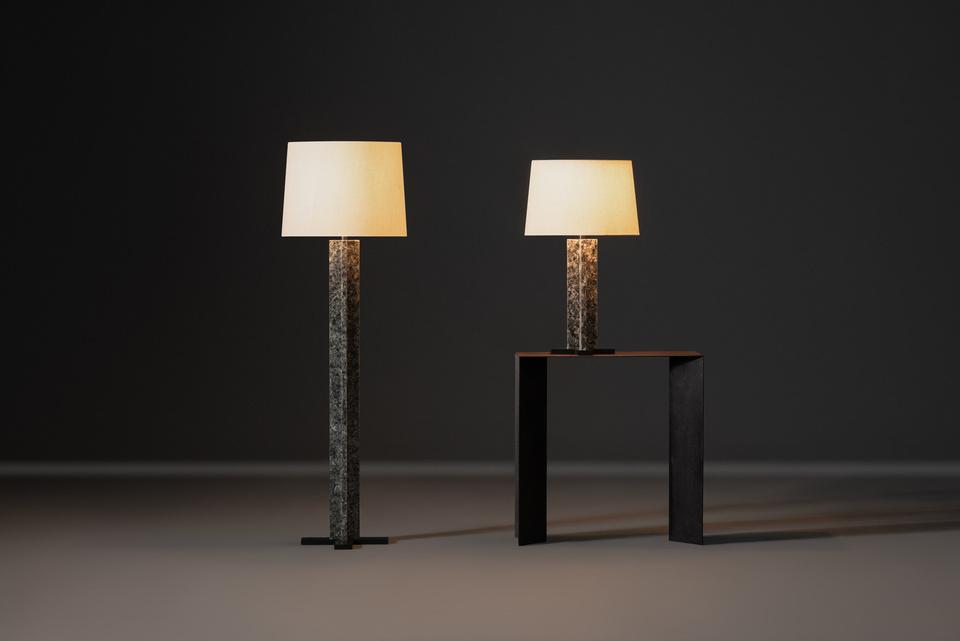 FG004669, FG004670, Muscovite, Floor Lamp, Table Lamp