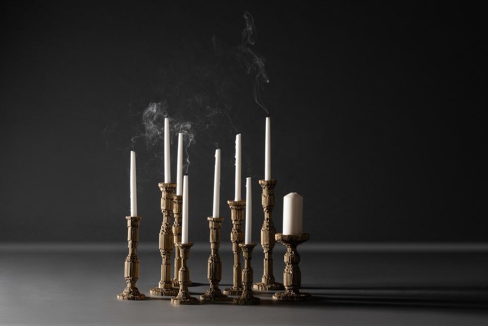 FG003699, FG003698, FG003697, FG004134, FG003700, Paglia Candleholders